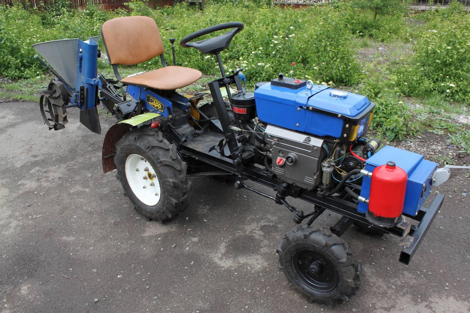 Как сделать из дизельного мотоблока трактор